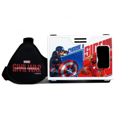 """Official Marvel Civil War Battle for Faith Plastic 6"""" Virtual Reality Viewer (VR Headset) Inspired by Google Cardboard"""