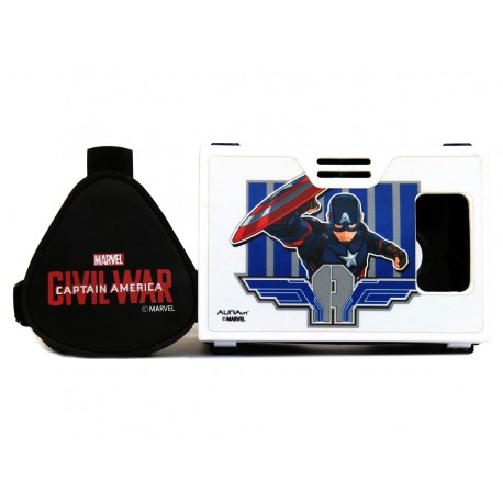 """Official Marvel Civil War Captain America All American Superhero Plastic 6"""" Virtual Reality Viewer Inspired by Google Cardboard"""