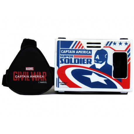 """Official Marvel Civil War (Captain America) Craziest Action Hero Plastic 6"""" Virtual Reality Viewer Inspired by Google Cardboard"""