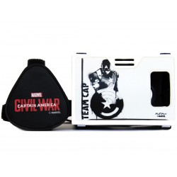 Official Marvel Civil War (Captain America) Black Shield Protector Plastic Virtual Reality Viewer Inspired by Google Cardboard