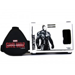 "Official Marvel Civil War Super Hero Iron Man in Black Plastic 6"" Virtual Reality Viewer(VR Headset)Inspired by Google Cardboard"