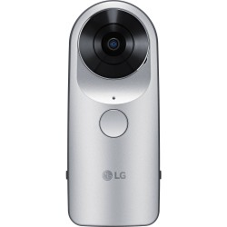 LG 360 Cam Spherical Digital Camera for clicking 360 degree videos and images, supports Micro SD card