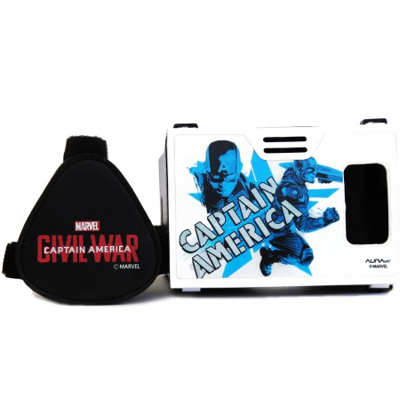 "Official Marvel ActionHero Captian America Civil War Plastic 6"" Virtual Reality Viewer (VR headset) Inspired by Google Cardboard"