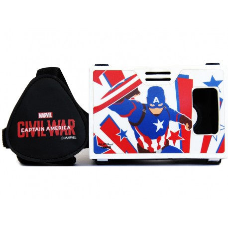 Official Marvel Civil War (Captain America) Sky Shielder Plastic Virtual Reality Viewer(VR Headset)Inspired by Google Cardboard