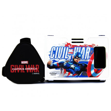 Official Marvel Civil War (Captain America/Iron Man),Super Soldier Plastic Virtual Reality Viewer Inspired by Google Cardboard
