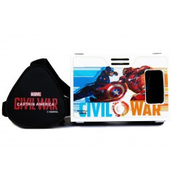 Official Marvel Civil War(Captain America/Iron Man),Shield vs Armor Plastic Virtual Reality Viewer Inspired by Google Cardboard