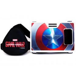 Official Marvel Civil War (Captain America),Flying Shield Plastic Virtual Reality Viewer(VR Headset)Inspired by Google Cardboard