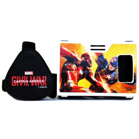 Official Marvel Civil War(Captain America/Iron Man)Clash of Super Heroes Plastic VR Viewer Headset Inspired by Google Cardboard