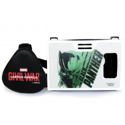 Official Marvel Civil War (Black Panther),Coveted Superhero Plastic Virtual Reality Viewer Headset Inspired by Google Cardboard