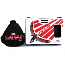 Official Marvel Civil War(Falcon),Prime Avenger Plastic Virtual Reality Viewer Headset from AuraVR Inspired by Google Cardboard