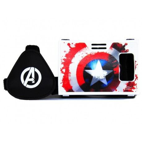 Official Marvel Avengers The Power Of Shield Plastic Virtual Reality Viewer Headset Inspired by Google Cardboard
