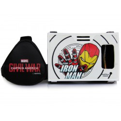 Official Marvel Civil War(Iron Man)Team Iron Man Plastic Virtual Reality Viewer Headset from AuraVR Inspired by Google Cardboard