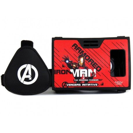 Official Marvel Avengers(Iron Man)Avenger For Justice Plastic Virtual Reality Viewer Headset from Inspired by Google Cardboard