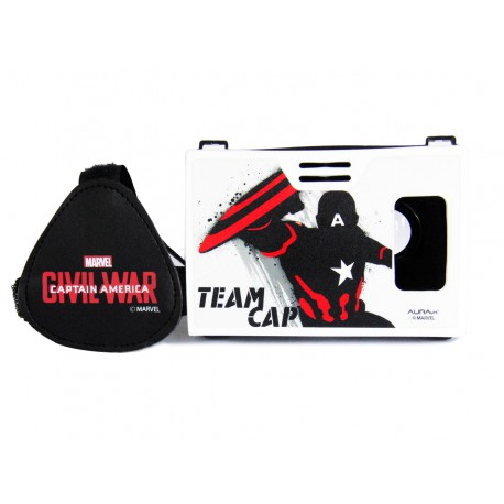 Official Marvel Civil War(Captain America),Team Cap inch Virtual Reality Viewer Headset from AuraVR Inspired by Google Cardboard