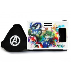 Official Marvel Avengers Earth's Mightiest Heroes Plastic Virtual Reality Viewer Headset Inspired by Google Cardboard