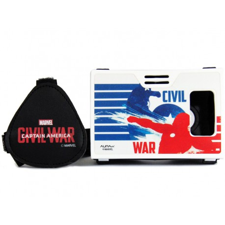 Official Marvel Civil War(Captain America/Iron Man)Superheroes Battle Virtual Reality Viewer AuraVR Inspired by Google Cardboard