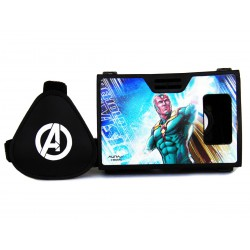 Official Marvel Avengers The Vision Plastic Virtual Reality Viewer (VR Headset) from AuraVR Inspired by Google Cardboard