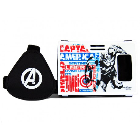 Official Marvel Avengers(Captain America)The First Captain Plastic Virtual Reality Viewer Headset Inspired by Google Cardboard