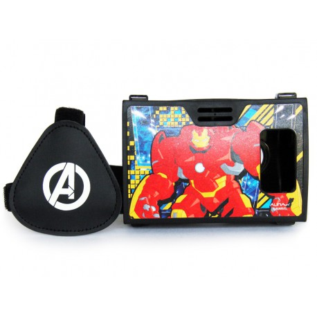 Official Marvel Avengers(Iron Man) Man With Shellhead Plastic Virtual Reality Viewer Headset Inspired by Google Cardboard