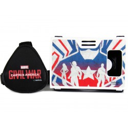 Official Marvel Civil War Captain America Team Plastic Virtual Reality Viewer Headset from AuraVR Inspired by Google Cardboard
