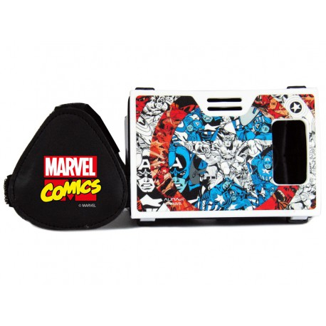 Official Marvel Comics Captain America Plastic Virtual Reality Viewer Headset Inspired by Google Cardboard