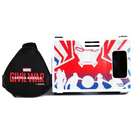 "Official Marvel Civil War Iron Man Team Plastic 6"" Virtual Reality Viewer(VR Headset)from AuraVR Inspired by Google Cardboard"