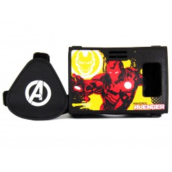 Official Marvel Avengers(Iron Man)Golden Avenger Plastic 6 inch Virtual Reality Viewer Headset Inspired by Google Cardboard
