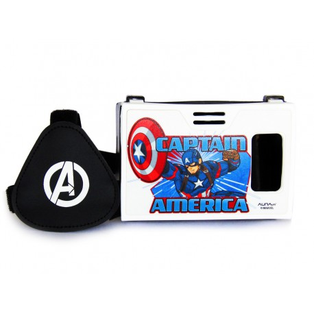 Official Marvel Civil War Captain America with Shield Plastic Virtual Reality Viewer(VR Headset)Inspired by Google Cardboard