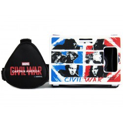 Official Marvel Civil War Team Cap Vs Team Iron Man Plastic Virtual Reality Viewer (VR Headset) Inspired by Google Cardboard