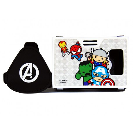 Official Marvel Comics Avengers Plastic 6 inch Virtual Reality Viewer(VR Headset)Inspired by Google Cardboard