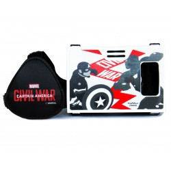 Official Marvel Civil War Captian America Vs Iron Man Plastic Virtual Reality Viewer from AuraVR Inspired by Google Cardboard
