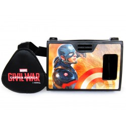 Official Marvel Civil War Captian America With Shield Plastic Virtual Reality Viewer from AuraVR Inspired by Google Cardboard