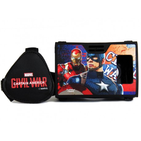Official Marvel Civil War (Captian America/Iron Man) Team Battle Plastic Virtual Reality Viewer Inspired by Google Cardboard