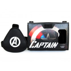 Official Marvel Avengers Shield Of Captain Plastic 6 inch Virtual Reality Viewer(VR Headset)Inspired by Google Cardboard