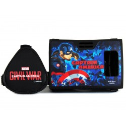 "Official Marvel Civil War Captian America Plastic 6"" Virtual Reality Viewer(VR Headset) from AuraVR Inspired by Google Cardboard"