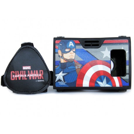 Official Marvel Civil War (Captian America) Man with Shield Plastic 6 inch Virtual Reality Viewer Inspired by Google Cardboard