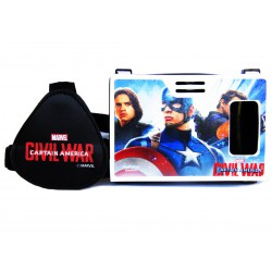 Official Marvel Civil War Team Cap (Winter Soldier & Hawkeye) Plastic Virtual Reality Viewer Inspired by Google Cardboard