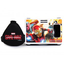 Official Marvel Civil War Team Stark (Vision & War Machine) Plastic Virtual Reality Viewer Inspired by Google Cardboard