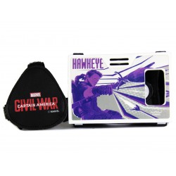 Official Marvel Civil War Hawkeye Plastic 6 inch Virtual Reality Viewer (VR Headset) from AuraVR Inspired by Google Cardboard
