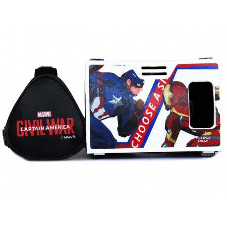 Official Marvel Civil War (Captain America/Iron Man) War Of Superheroes Virtual Reality Viewer Inspired by Google Cardboard