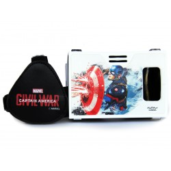 Official Marvel Civil War (Captain America) Shield With Blaze Plastic Virtual Reality Viewer Inspired by Google Cardboard