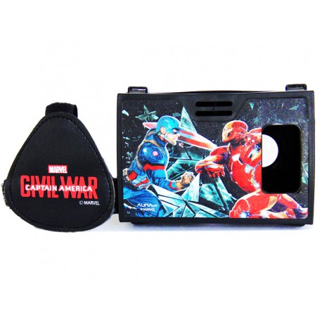 Official Marvel Civil War Captain America Vs Iron Man Plastic Virtual Reality Viewer from AuraVR Inspired by Google Cardboard