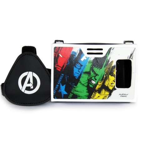 Official Marvel Avengers Power Of Superheroes Plastic 6 inch Virtual Reality Viewer(VR Headset)Inspired by Google Cardboard
