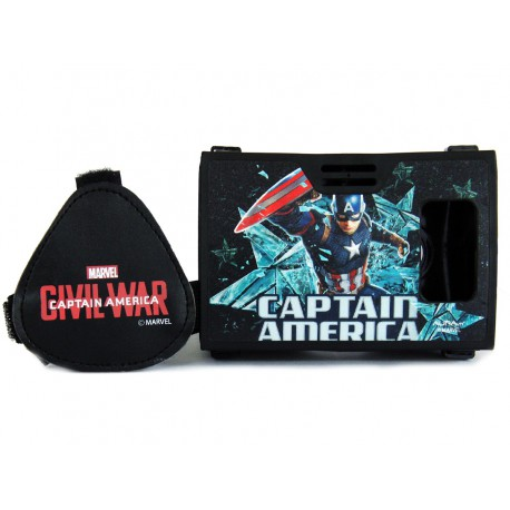 Official Marvel Civil War (Captain America) Avenger With Shield Plastic Virtual Reality Viewer Inspired by Google Cardboard