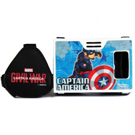Official Marvel Civil War Captain America With Shining Shield Plastic Virtual Reality Viewer Inspired by Google Cardboard