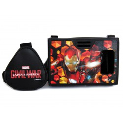 Official Marvel Civil War Iron Man With Armor Plastic Virtual Reality Viewer(VR Headset)from AuraVR Inspired by Google Cardboard