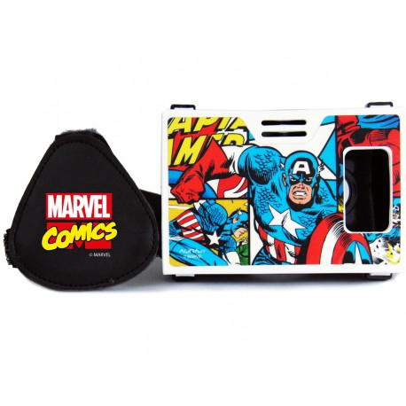 Official Marvel Comics(Captain America)The Living Legend Plastic 6 inch Virtual Reality Viewer Inspired by Google Cardboard
