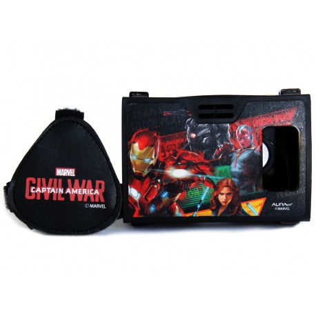 Official Marvel Civil War Team Iron ManPlastic 6 inch Virtual Reality Viewer(VR Headset)from AuraVR Inspired by Google Cardboard