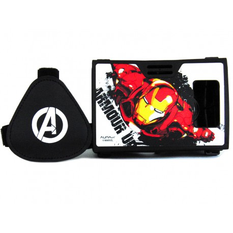 Official Marvel Avengers(Iron Man)Armored Suit Plastic 6 inch Virtual Reality Viewer(VR Headset)Inspired by Google Cardboard