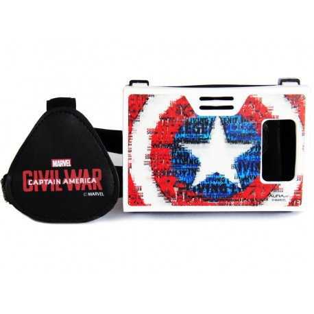 Official Marvel Civil War Shield Of Super Soldier Plastic Virtual Reality Viewer from AuraVR Inspired by Google Cardboard